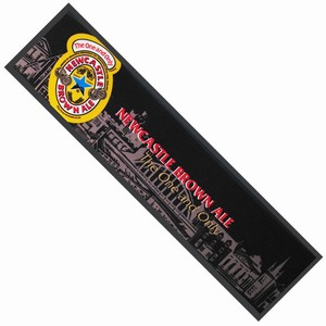Newcastle Brown Ale Wetstop Bar Runner