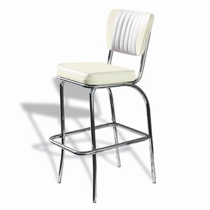 El Camino Diner Stool Off White