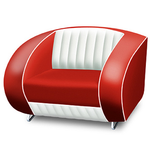 Bel Air Armchair Red