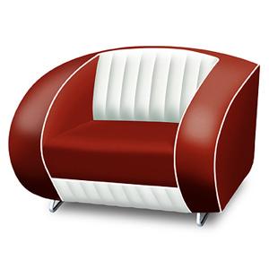 Bel Air Armchair Ruby