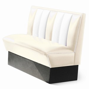 Hollywood Booth Seat Off White