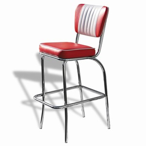 El Camino Diner Stool Red