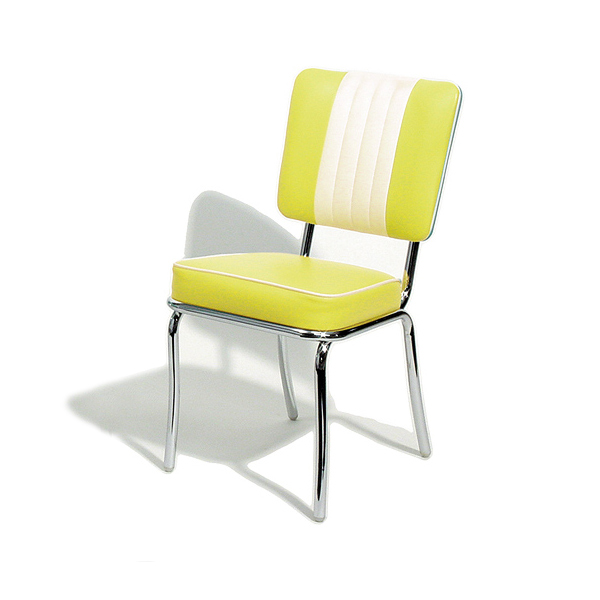 Yellow Dining Chairs: CHAIR DINING METALCRAFT RETRO YELLOW