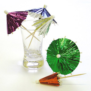Foil Cocktail Umbrellas / Parasols