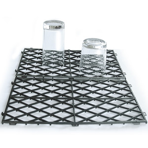 Glass Stacking Mats Black