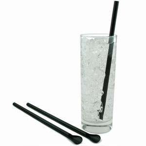 Spoon Straws Black