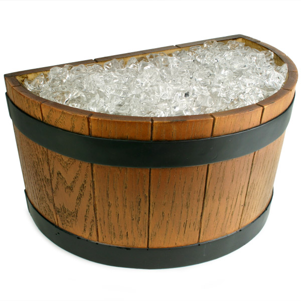 tub love ice barrel tiki half product barware wood products grain end