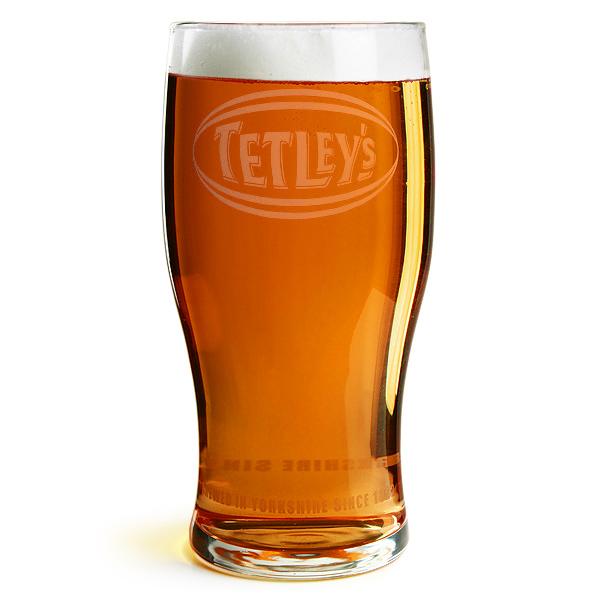 Tetley's Pint Glasses CE 20oz / 568ml | Drinkstuff
