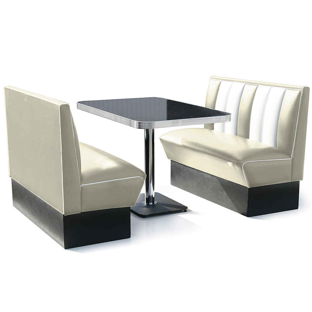 Hollywood Booth Dining Set Off White