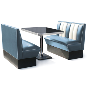 Hollywood Booth Dining Set Blue