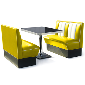 Hollywood Booth Dining Set Yellow