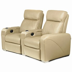 Premiere Home Cinema Seating - 2 Seater Beige