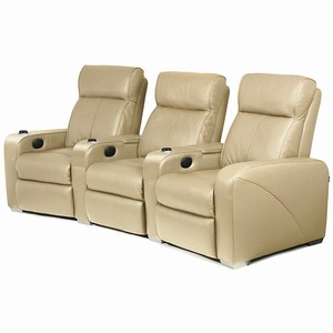Premiere Home Cinema Seating - 3 Seater Beige