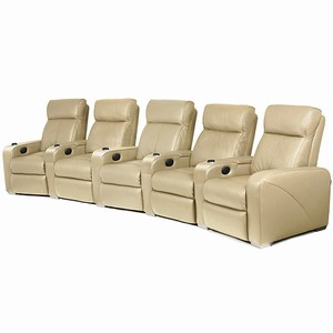 Premiere Home Cinema Seating - 5 Seater Beige