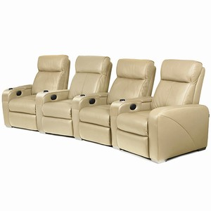 Premiere Home Cinema Seating - 4 Seater Beige