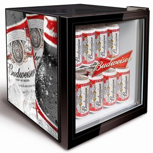 Budweiser Bottle Design Mini Fridge
