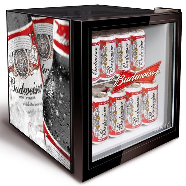 Budweiser Bottle Design Mini Fridge Drinkstuff