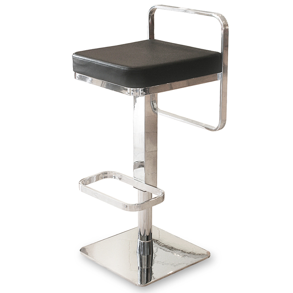 Square Bar Stools ~ Square bar stool black drinkstuff