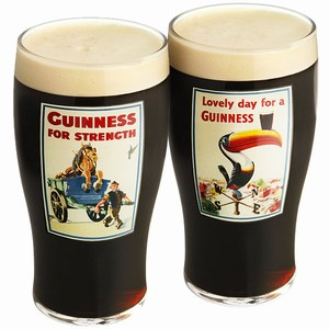 Guinness Gilroy Pint Glasses Gift Box 20oz / 568ml