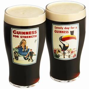 Guinness Gilroy Pint Glasses Gift Box 20oz / 568ml