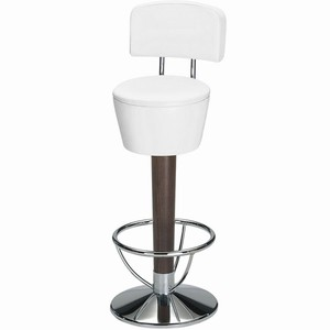Pienza Commercial Bar Stool White Single