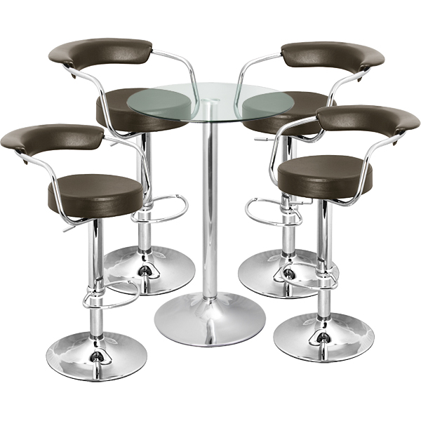 table for bar stools high bar table 6 stools white set