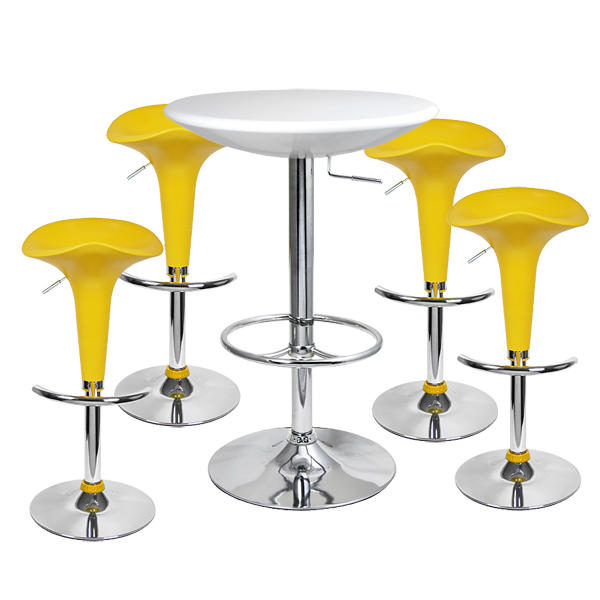 pod bar stool and podium table set yellow drinkstuff