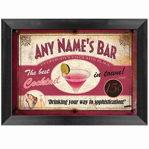 Custom Cocktail Bar Sign