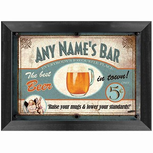 Custom Beer Bar Sign