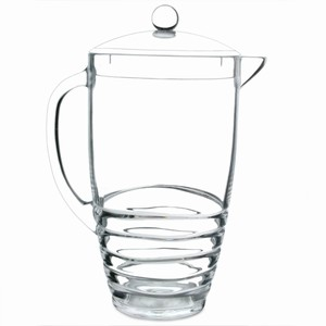 Acrylic Ribbed Pitcher 91.5oz / 2.6ltr