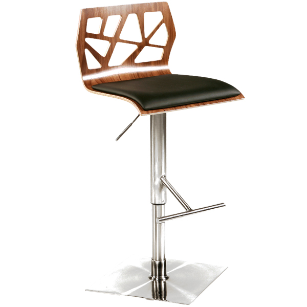 Funky Bar Stool Walnut Drinkstuff