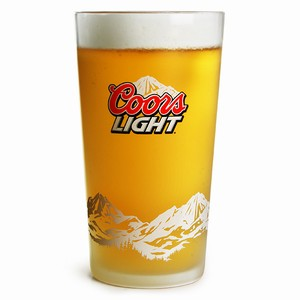 Coors Light Frosted Pint Glasses CE 20oz / 568ml
