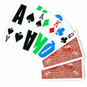 Bicycle EZ See LoVision Playing Cards Red