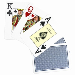 Fournier Jumbo Poker Playing Cards Blue