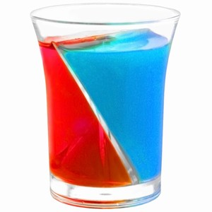 Twisted Plastic Shot Glasses 1.7oz / 50ml