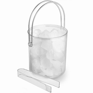 Classic Acrylic Ice Bucket And Tongs
