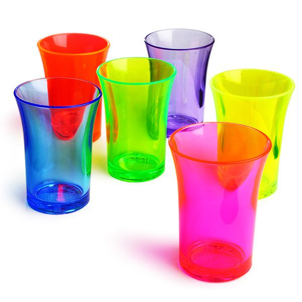 179ddb0cf Econ Neon Polystyrene Shot Glasses CE 1.25oz   35ml