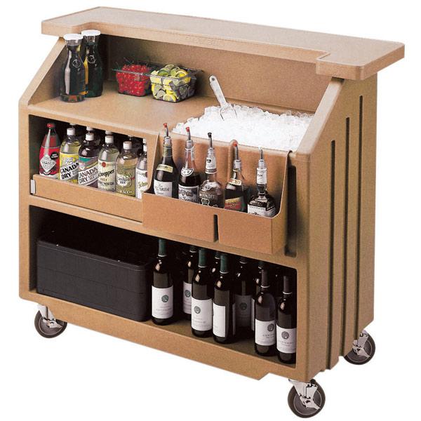 Cambro Portable Bar 540 Coffee Beige Mobile Bars