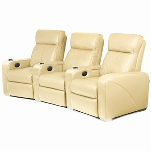 Premiere Home Cinema Seating - 3 Seater Cream