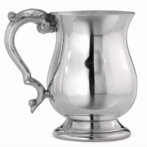 Georgian Pint Pewter Tankard 20oz / 568ml