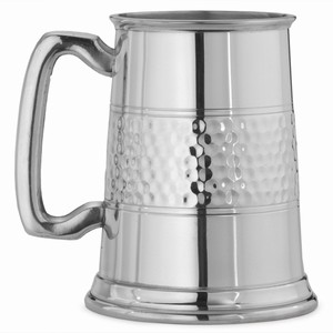 Half Hammered Pint Pewter Tankard 20oz / 568ml