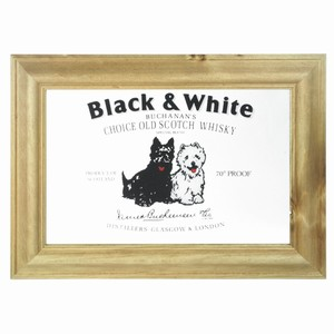 Black & White Scotch Whisky Bar Mirror
