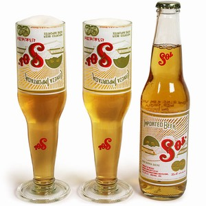 Sol Beer Bottle Goblets 10.6oz / 300ml