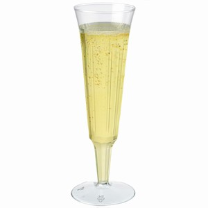 Disposable Lined Champagne Flutes 4.8oz / 135ml