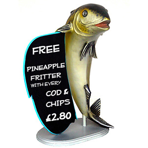 Mackerel Figure with Menu Board