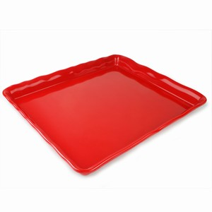 Melamine Display Platter Large Red