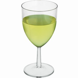 Plastic Reusable Wine Glasses 7oz LCE at 175ml