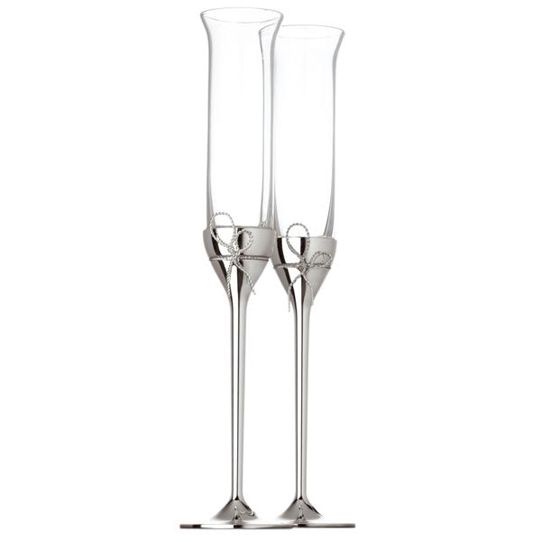 Vera wang love knot champagne flutes 120ml drinkstuff - Vera wang martini glasses ...