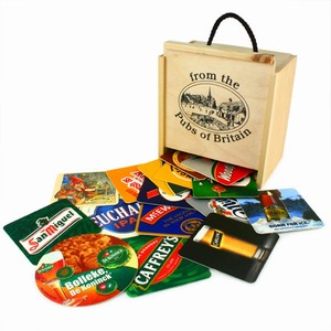 100 Pub Beer Mats in a Box