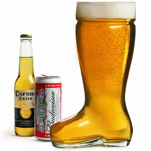 Giant Glass Beer Boot 3.5 Pint